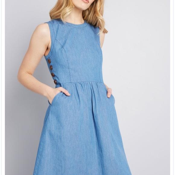 Modcloth Dresses & Skirts - Being breezy A-line dress modcloth NWT!